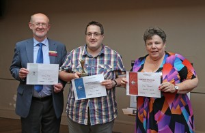 Area 15 Humorous Speech Contest Winners, L-R: Anthony Day (2nd place), Andy Nichols (1st place), Jean Stewart (3rd place)
